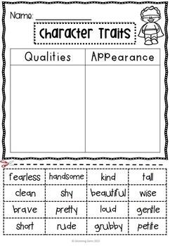 Character Trait Sorting Activities  (No Prep)