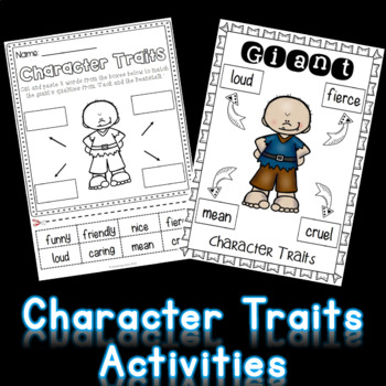 Character Trait Activities Fairy Tale Theme (NO PREP)
