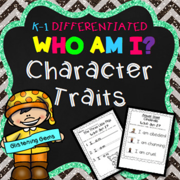 Fairy Tales Character Traits Activities (Who am I?)