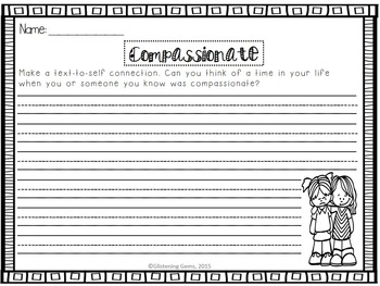 Character Trait Activities Pack