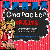 Character Trait Activities - Graphic Organizers, Task Cards & Writing Prompts