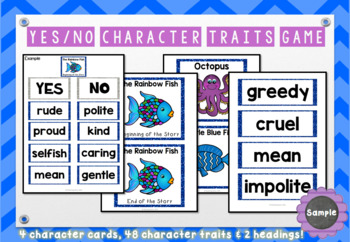 The Rainbow Fish Character Traits Game