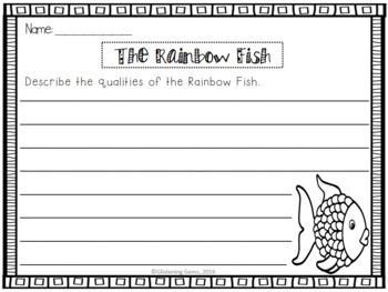 The Rainbow Fish Character Trait Writing Activities