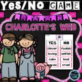 Charlotte's Web Character Traits Game   Charlotte's Web Novel Study