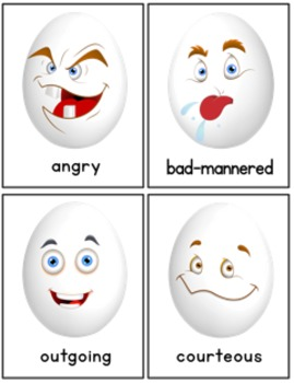Character Traits: 56 Egg Cartoon Illustrations  SALE