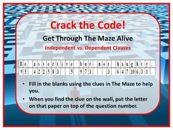 Character Traits A-C Kinesthetic Maze