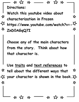 Character Traits Activity