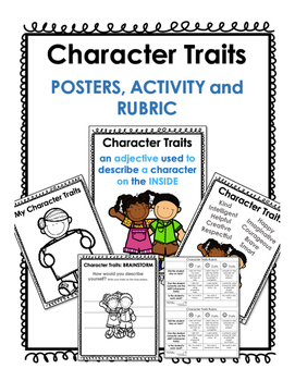 Character Traits Activity RUBRIC INCLUDED