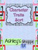 Character Traits - Adjective Sort