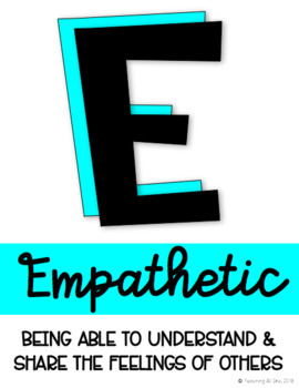 Character Traits Alphabet Posters