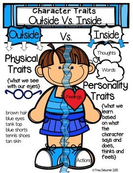 character traits anchor chart by trina deboree teaching and learning