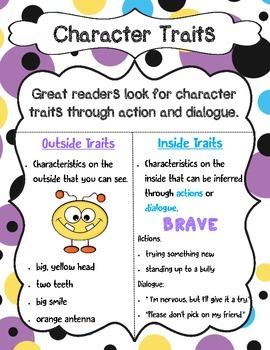 Character Traits Anchor Chart