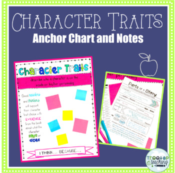 Character Traits Anchor Chart and Notes