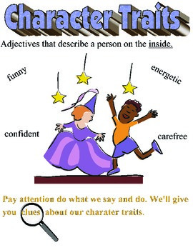 Character Traits Anchor Chart/Poster- Inference/Common Core