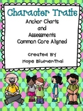Character Traits Anchor Charts and Assessments