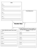Character Traits Anlaysis Worksheet