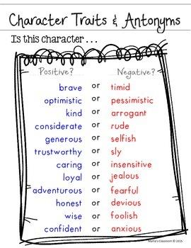 Character Traits & Antonyms