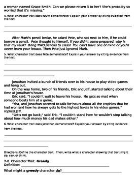 Character Traits Assessment
