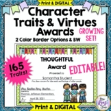 165 Character Trait Awards - Character Awards & Virtues Pi