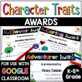 Editable End of Year Awards | Character Trait Awards w/ Di