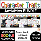 Character Traits Distance Learning Graphic Organizers & Activities BUNDLE