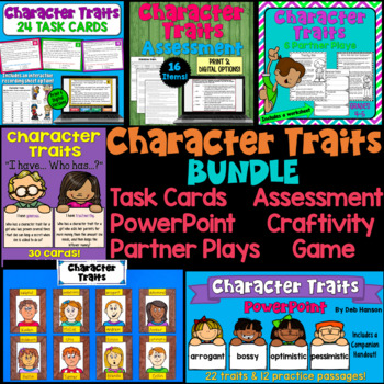 Character Traits! A variety of resources for teaching about character traits in the upper elementary classroom!