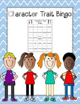 Character Traits Bingo