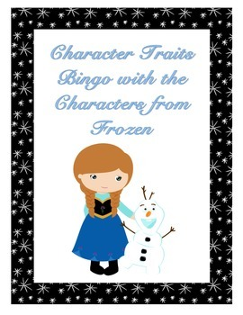 Character Traits Bingo with the Characters from Frozen