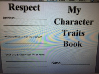 Character Traits Book