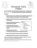 Character Traits Book Project