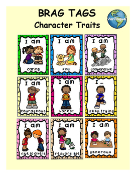 Character Traits Brag Tags