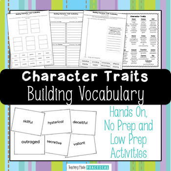 Building Character Traits Vocabulary