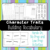 Building Character Traits Vocabulary - Character Trait Sorts, Activities, More