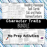 Character Traits Activities Bundle - Passages, Games, Task Cards, and More!