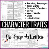 Character Traits Activities Bundle - Passages, Games, Task