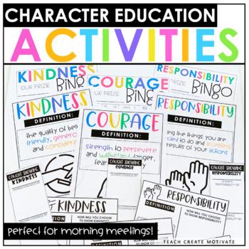 Character Education Bundle | Morning Meeting | Character Traits