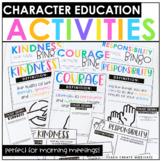 Character Education Bundle   Morning Meeting   Character Traits