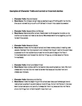 Character Traits Challenge