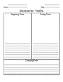 Character Traits Change Graphic Organizer!