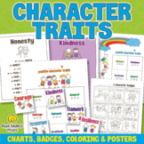Character Traits Charts, Badges, Coloring and Posters