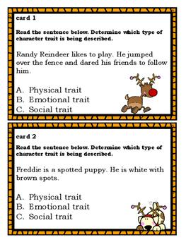 Character Traits: Christmas Themed