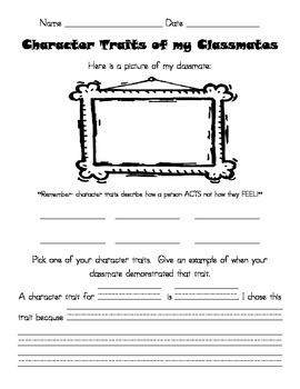 Character Traits Classmates