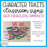 Character Traits Classroom Display [FREEBIE]