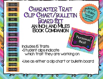 Character Education Traits Clip Chart - Inch and Miles