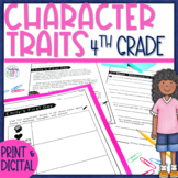 Character Traits Close Reading 4th Grade - Print & Digital
