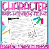 Character Traits - Reading Passage, Graphic Organizers, Qu