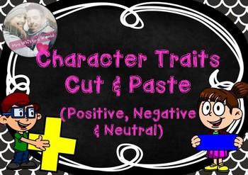 Character Traits- Cut & Paste Activity
