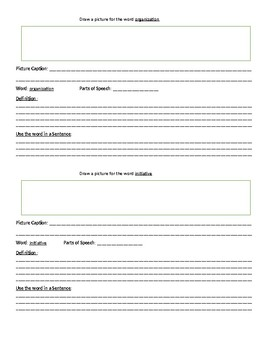 Character Traits Dictionary Book