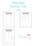 Character Traits Differentiated Bundle