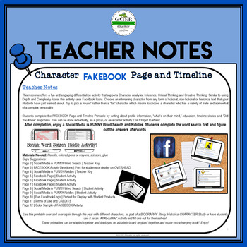 Back to School | Character Traits | FACEBOOK Template